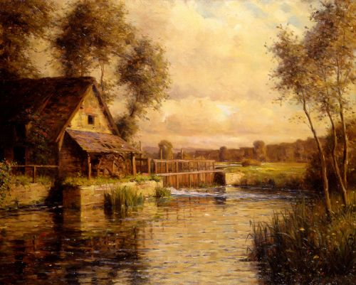 Old Mill in Normandy by Louis Aston Knight
