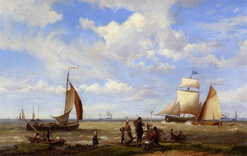 Shipping off the Dutch Coast by Hermanus Koekkoek