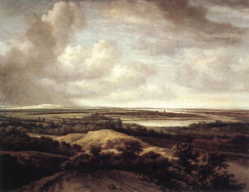 Panorama View of Dunes and a River by Philips Koninck