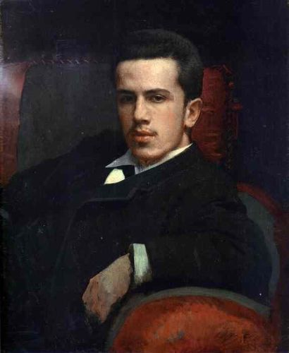 Portrait of Anatoly Kramskoy, the Artist's Son by Ivan Nikolaevich Kramskoy