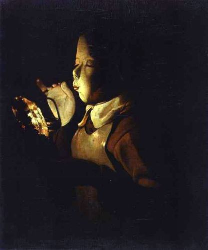 Boy blowing at a Lamp by Georges de La Tour