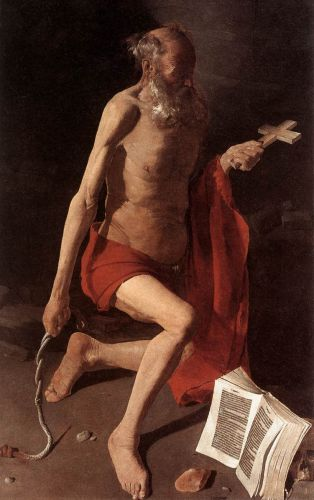 St Jerome by Georges de La Tour