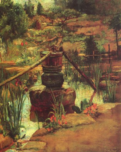 The Fountain in Our Garden at Nikko by John LaFarge
