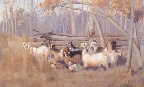 A Bush Idyll by George Lambert