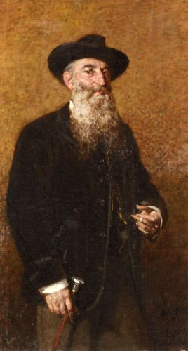 A Portrait of a Distinguished Italian Gentleman by Egisto Lancerotto
