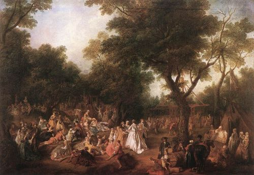 Fete in a Wood by Nicolas Lancret