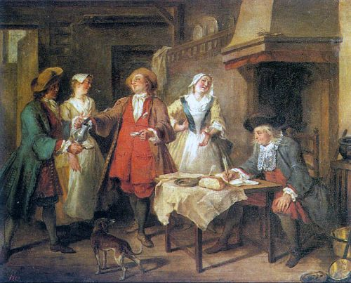 The Marriage Contract by Nicolas Lancret