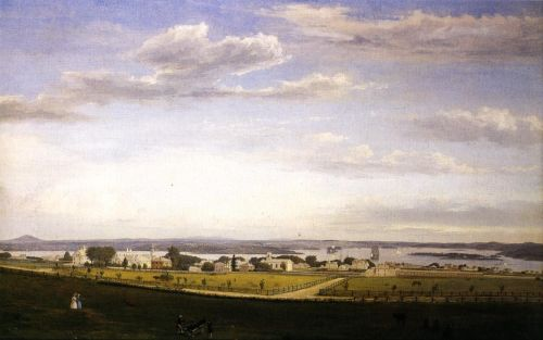 Castine from Fort George by Fitz Hugh Lane