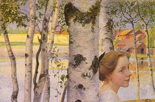 Lisbeth At The Birch by Carl Larsson
