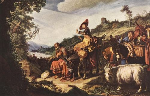 Abraham's Journey to Canaan by Pieter Lastman