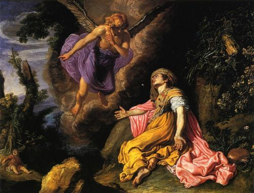 Hagar and the Angel by Pieter Lastman