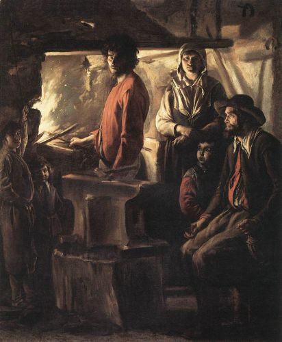 Blacksmith at His Forge by Le Nain Brothers