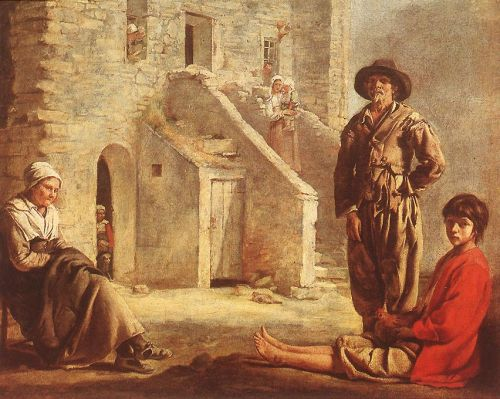 Peasants at their Cottage Door by Le Nain Brothers