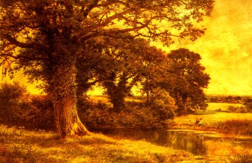 A Woodland Pool by Benjamin Williams Leader
