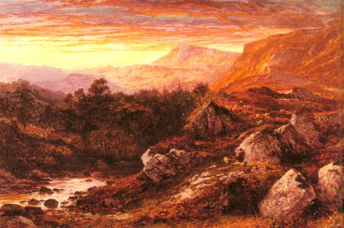 The Valley of the Lleder, North Wales by Benjamin Williams Leader