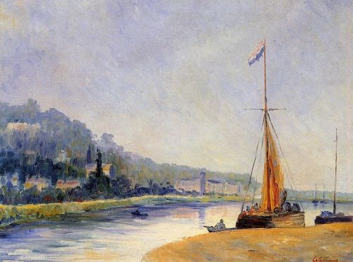 Banks of the River by Albert Lebourg