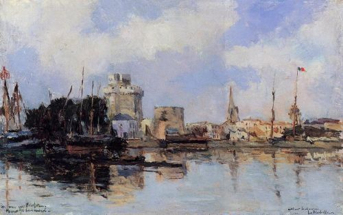 La Rochelle, the Harbor, Bright Sky by Albert Lebourg