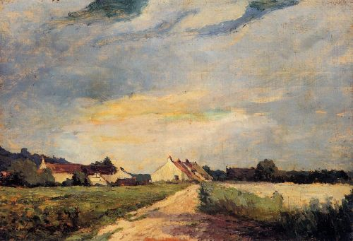 Landscape with Houses by Albert Lebourg