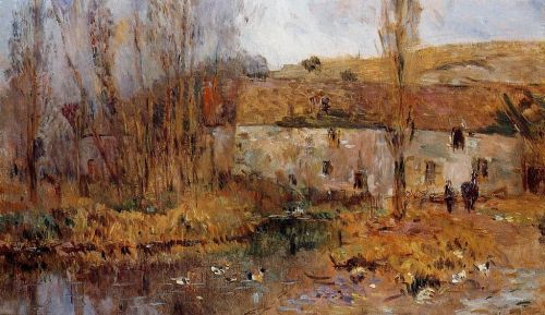 Mill in Normandy by Albert Lebourg