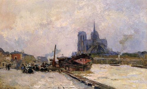 Notre Dame de Paris, View from Pont de la Tournelle by Albert Lebourg