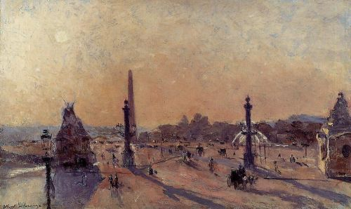 Place de la Concord by Albert Lebourg
