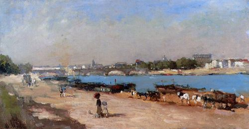The Banks of the Seine at Bercy by Albert Lebourg
