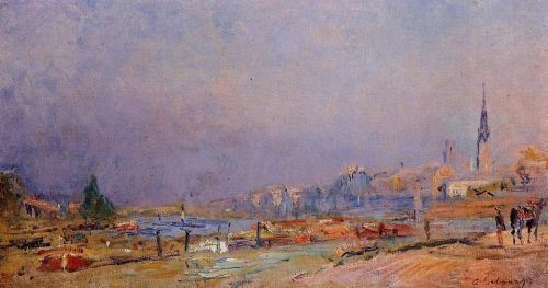 The Banks of the Seine at Rouen by Albert Lebourg