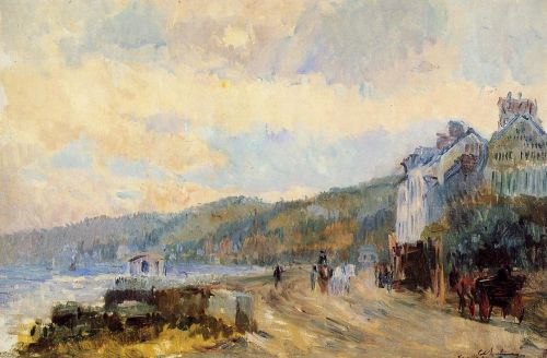 The Seine at Croisset, near Rouen by Albert Lebourg
