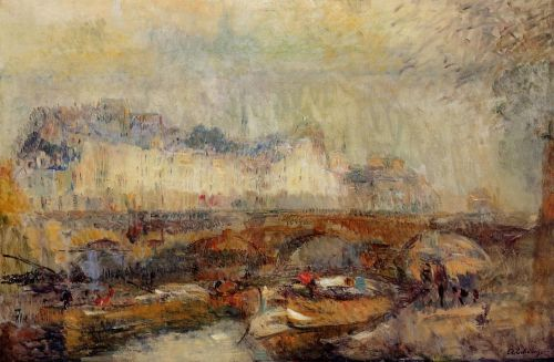 The Small Arm of the Seine at Pont Neuf by Albert Lebourg