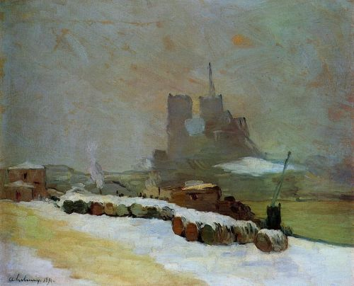 View of Notre Dame, Winter by Albert Lebourg