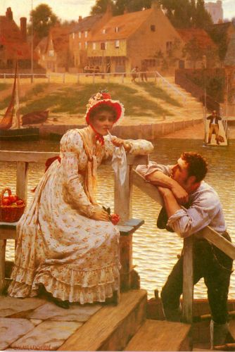 Courtship by Edmund Blair Leighton