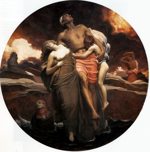 And the sea gave up the dead which were in it by Frederick Leighton