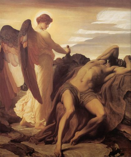 Elijah in the Wilderness by Frederick Leighton