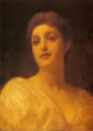 The Head of a Girl by Frederick Leighton