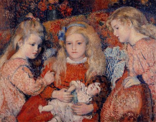 Three Little Girls by Georges Lemmen