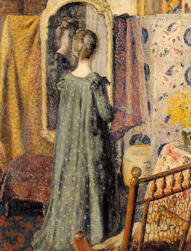 Woman Standing in Front of the Mirror by Georges Lemmen