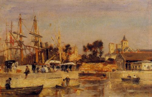 A Corner of the Port, Caen by Stanislas Lépine