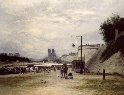 The Henri IV Quay, Paris by Stanislas Lépine