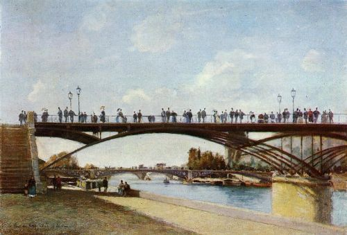 The Pont des Arts, Paris by Stanislas Lépine