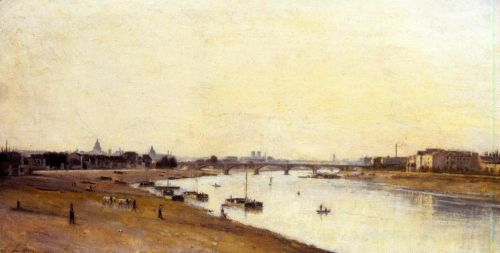The Pont National as Seen from Quai d'Ivry, Paris by Stanislas Lépine