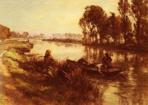 By the Banks of the River by Leon Augustin Lhermitte