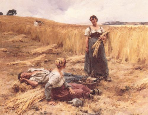 Harvesters at Mont-Saint-Pere by Leon Augustin Lhermitte