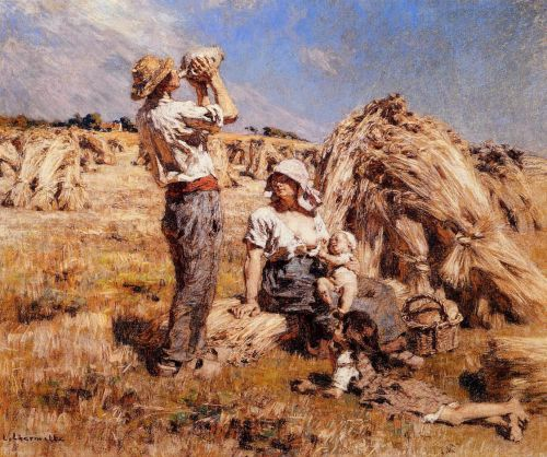 Motherhood by Leon Augustin Lhermitte