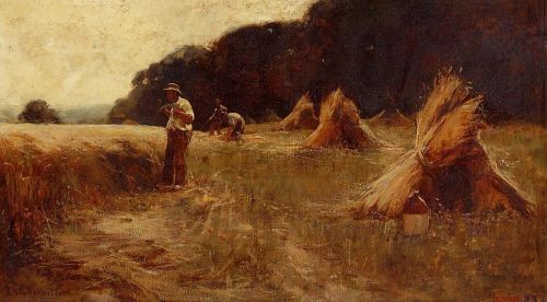 The Harvesters by Leon Augustin Lhermitte
