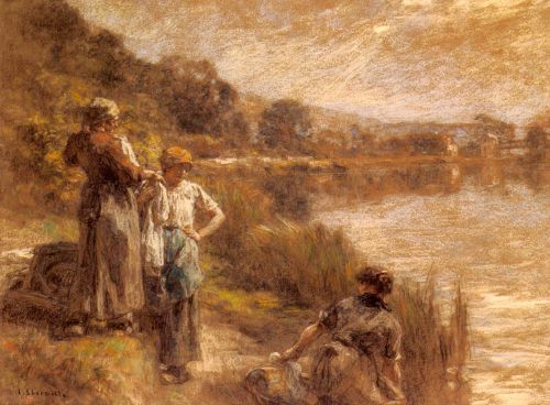 Washerwomen by the Banks of the Marne by Leon Augustin Lhermitte