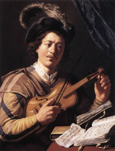 The Violin Player by Jan Lievens