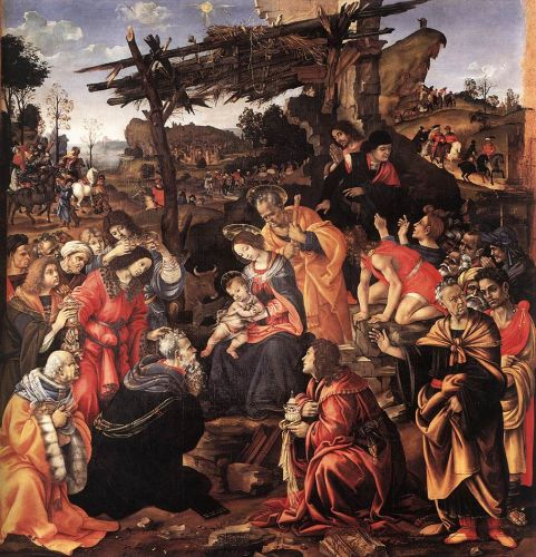 Adoration of the Magi by Filippino Lippi