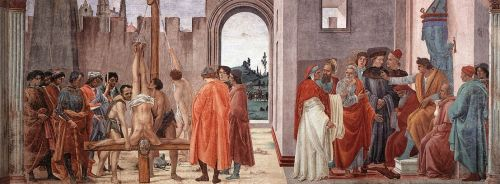 Disputation with Simon Magus and Crucifixion of Peter by Filippino Lippi