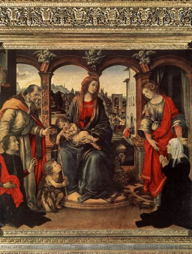 Madonna with Child and Saints by Filippino Lippi