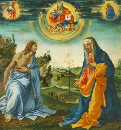 The Intervention of Christ and Mary by Filippino Lippi